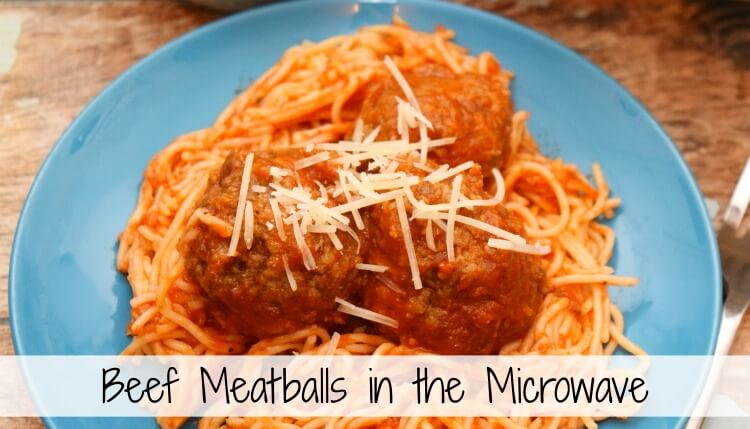 How to make this beef meatball recipe in a few short minutes in the microwave -- perfect for pasta or sub sandwiches!