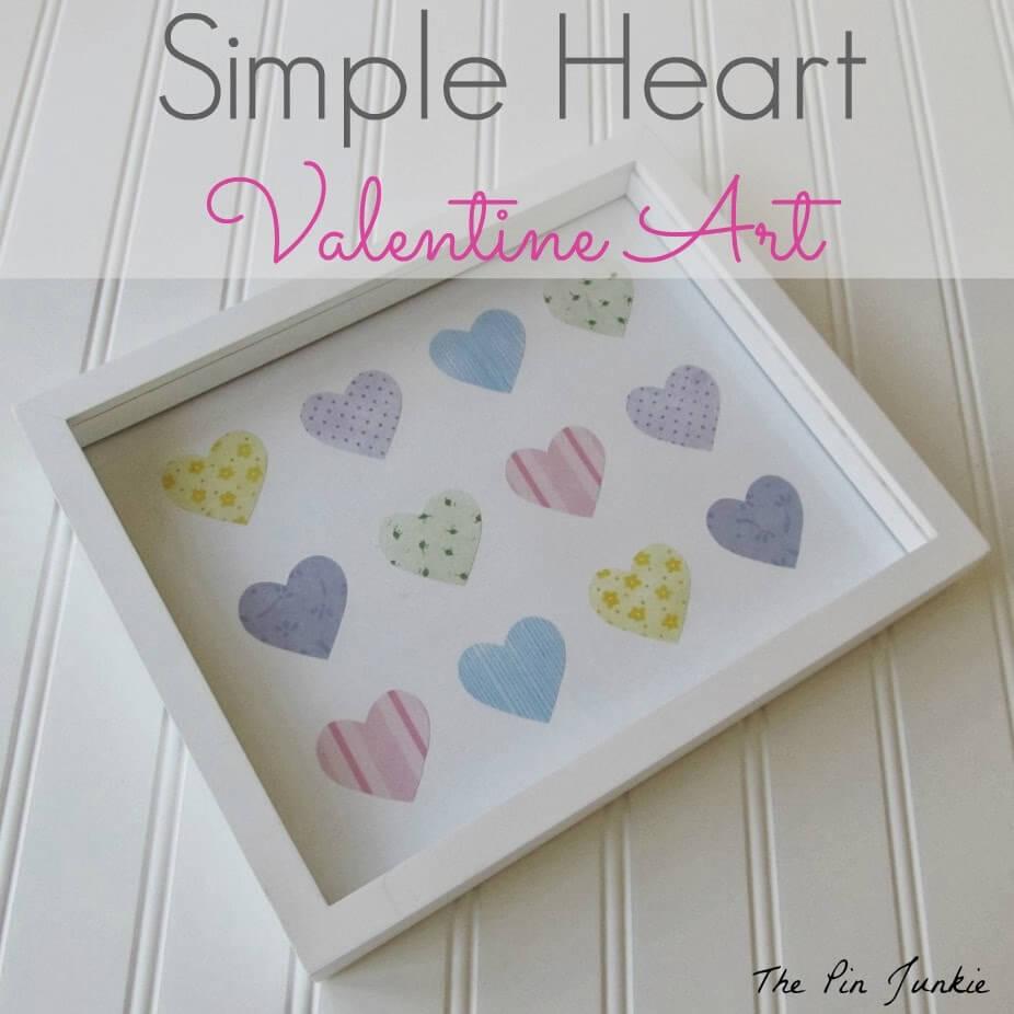simple heart valentine art 2