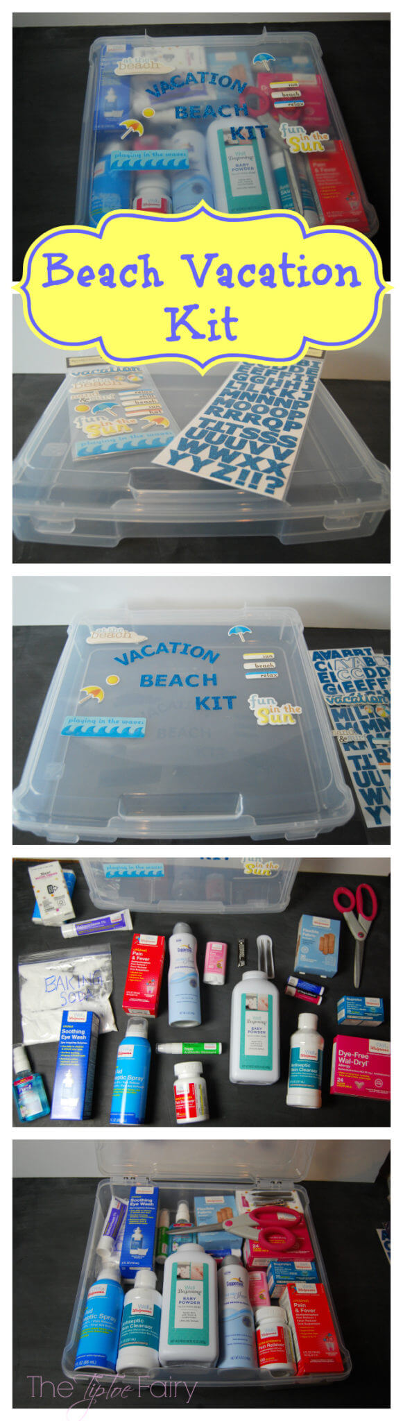 Going on Vacation? Make a Health Wellness Kit! Check this Beach Vacation Kit!   The TipToe Fairy #WellAtWalgreens #shop #vacationkit