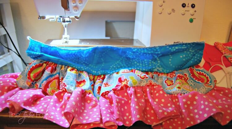 Doll twirly skirt layers