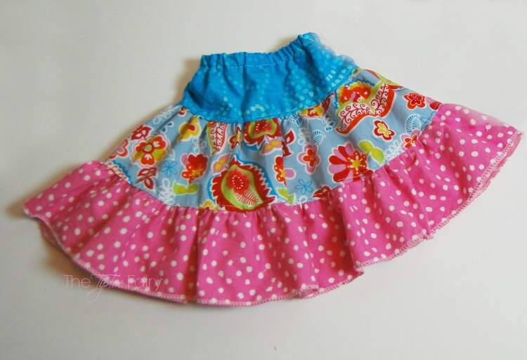 Finished Doll Twirly Skirt