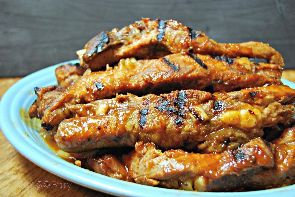 FIVE Ingredient Crockpot Ribs | The TipToe Fairy #slowcookerrecipes #ribsrecipes