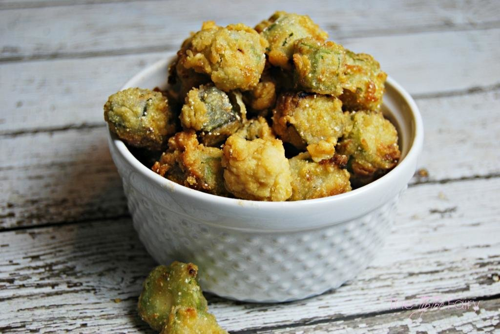Southern Fried Okra | The TipToe Fairy #friedokra #okra #okrarecipe