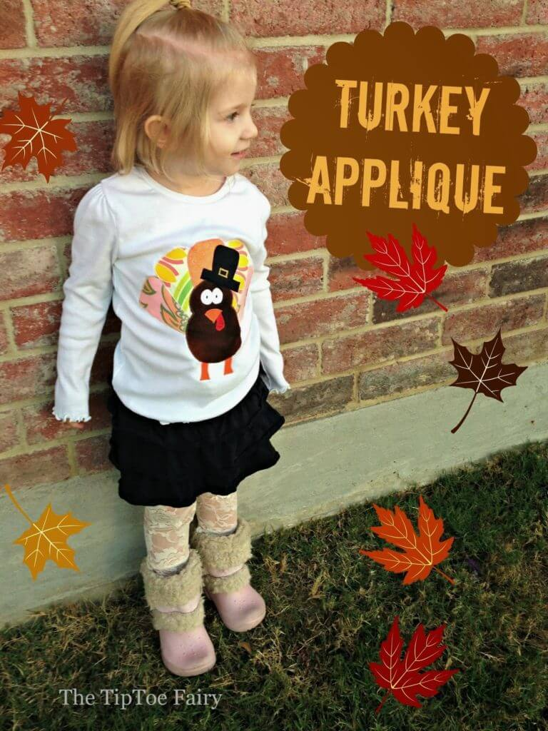 Make a Turkey and a Snowman applique - easy tutorial for the holidays. | The TipToe Fairy