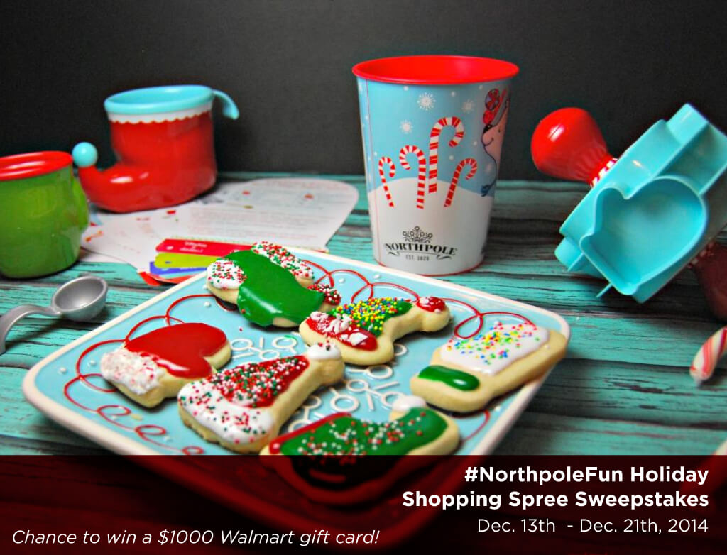Easy holiday cookie decorating & your chance to win #NorthpoleFun $1000 Sweepstakes! Find rules and enter here: http://cbi.as/81qjv. Prize: $1000 Walmart gift card Ends: 12/21/14. #ad