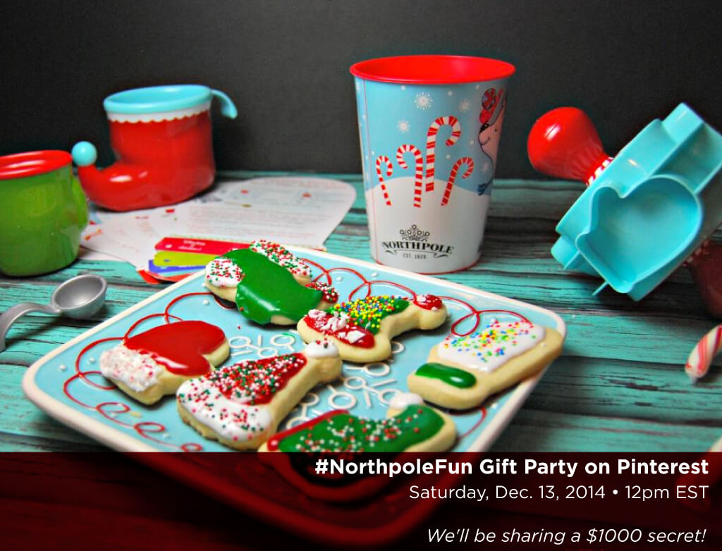 #NorthpoleFun Gift Party on Pinterest Dec 13th at 12 pm EST