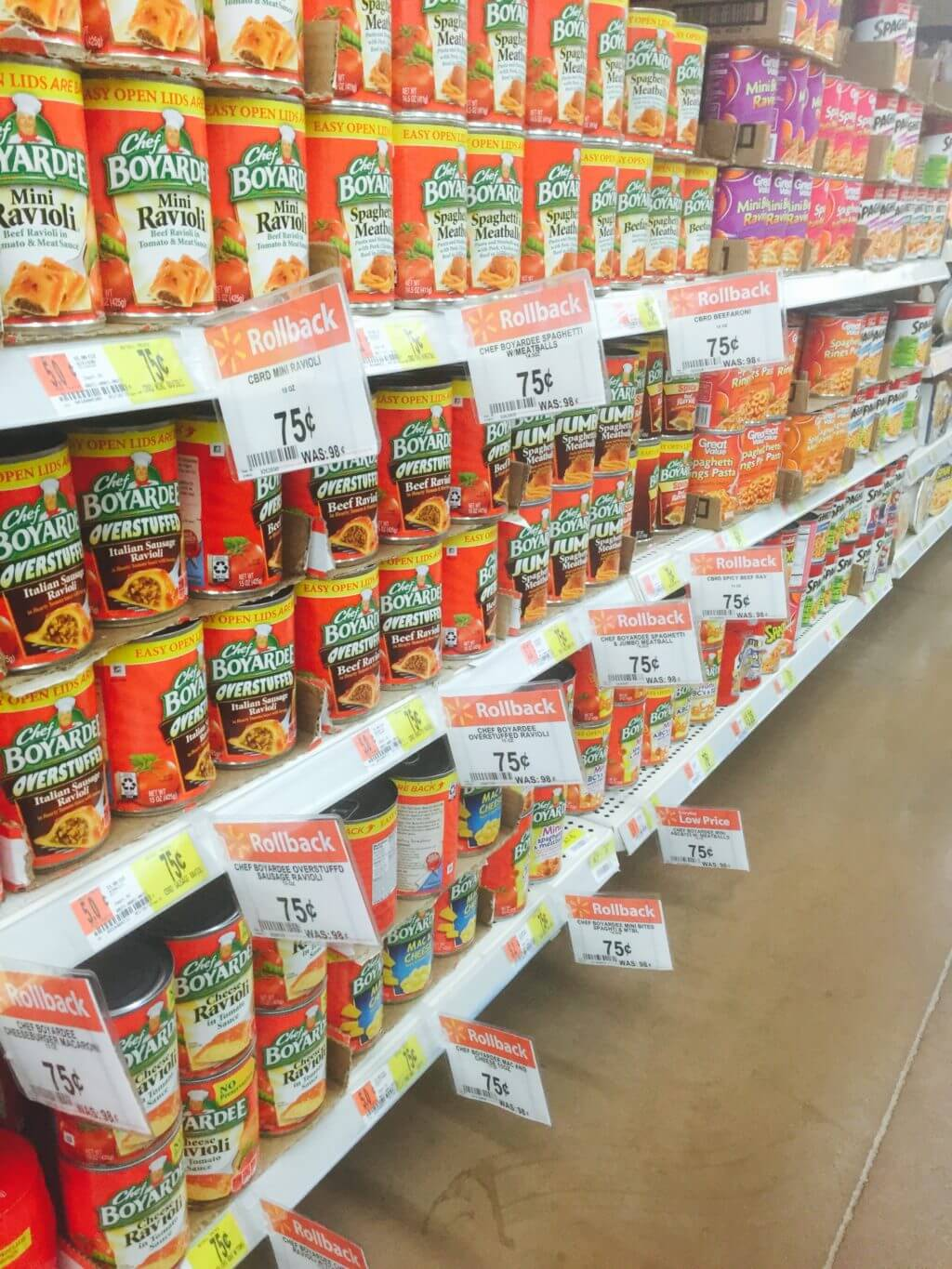 Chef Boyardee on Roll Back at Walmart!!