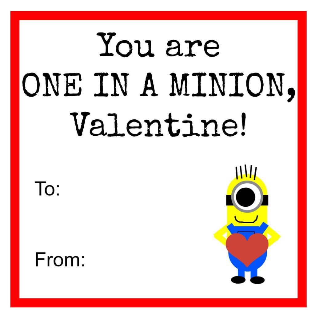 Bewitching image regarding you re one in a minion printable