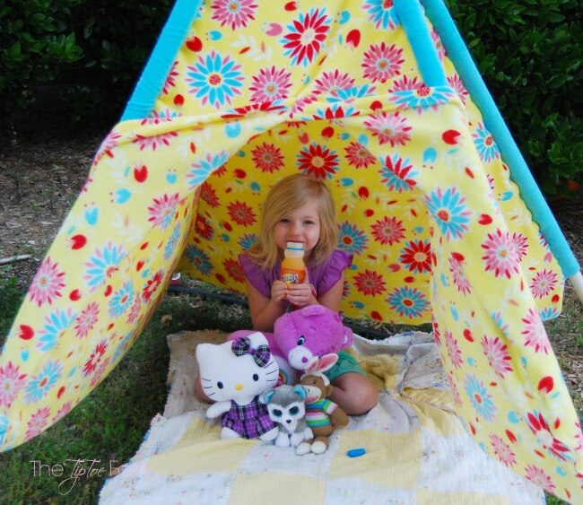 Have Fun in the Sun and make your own Play Tent for your kids - easy  sc 1 st  The TipToe Fairy & Make a Play Tent u0026 Have Fun in the Sun | The TipToe Fairy
