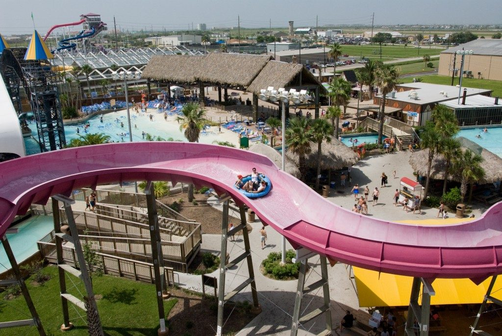 The Wolfpack water slide at Schlitterbahn.