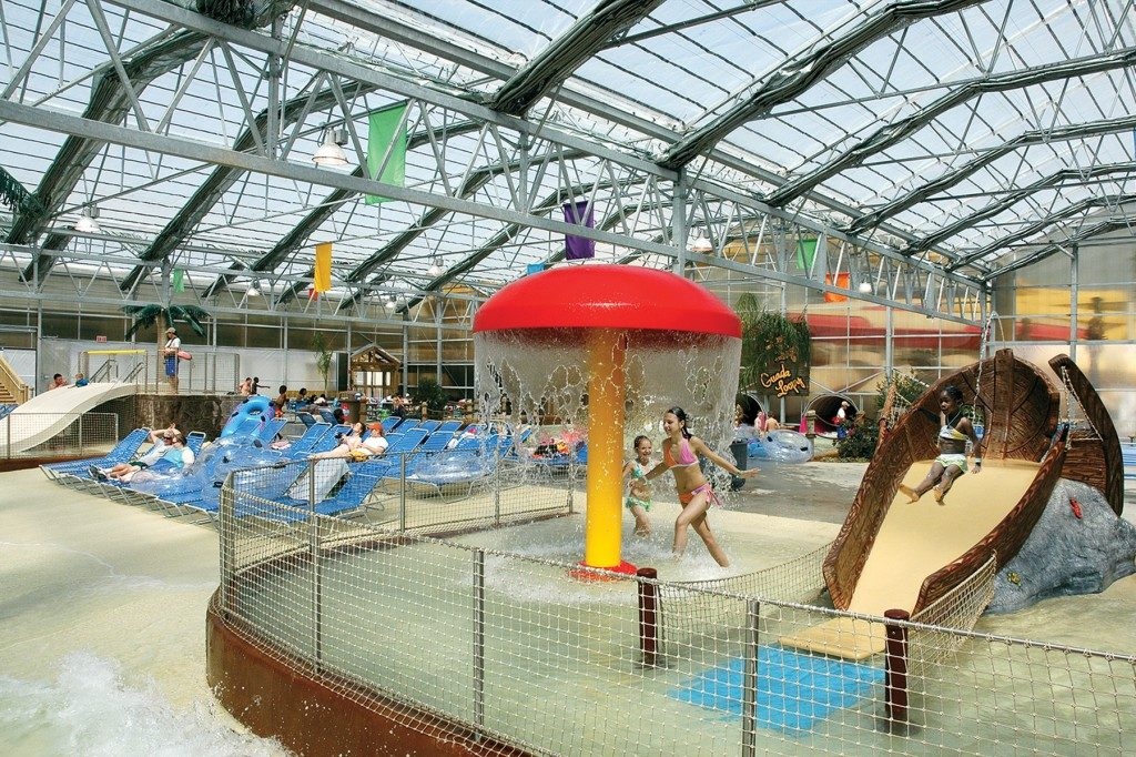 Indoor water play area for kids at Schlitterbahn