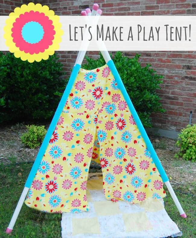 Have Fun in the Sun and make your own Play Tent for your kids - easy & Make a Play Tent u0026 Have Fun in the Sun | The TipToe Fairy