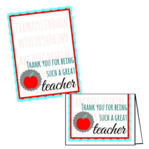 graphic relating to Teacher Appreciation Cards Printable titled Totally free Trainer Appreciation Printables for Reward Playing cards The