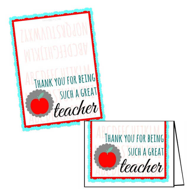 free teacher appreciation printables for gift cards  the
