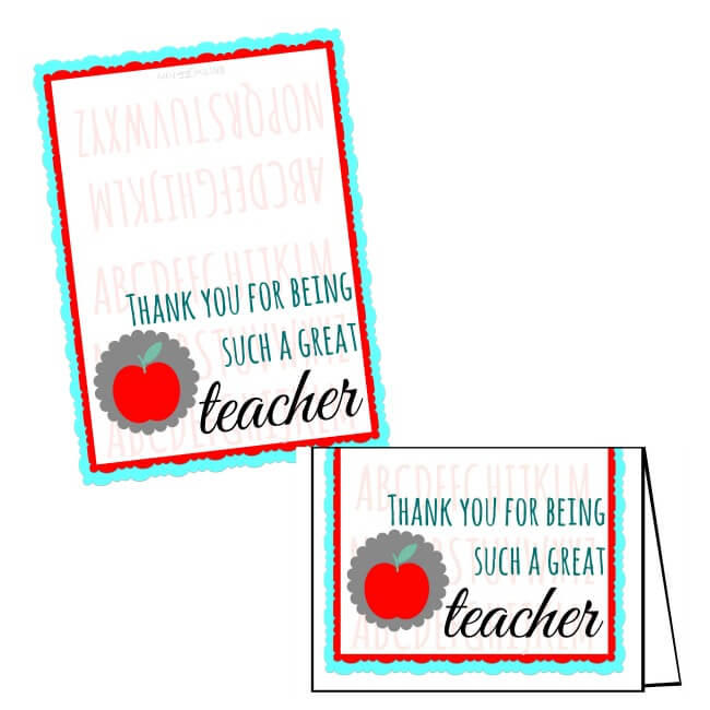 FREE Teacher Appreciation Printables to download for end of the year teacher gifts.  Just add a gift card! | The TipToe Fairy