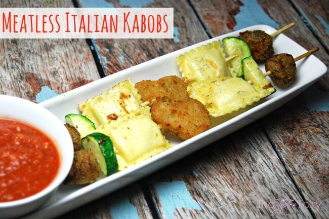 Meatless Italian Kabobs #GrillWithaTwist [ad]   The TipToe Fairy