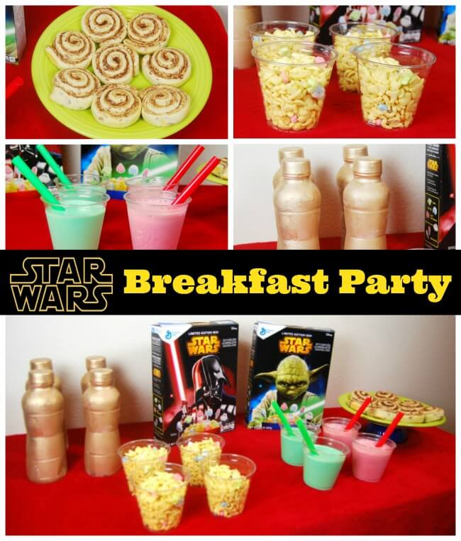 May The Force be with you at the breakfast table! Check out how we made a Star Wars breakfast party with #StarWarsCereal #sp | The TipToe Fairy