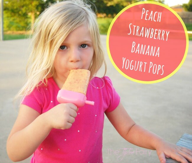 WaterWipes & Peach Strawberry Banana Yogurt Pops #WaterWipes #IC (ad) | The TipToe Fairy