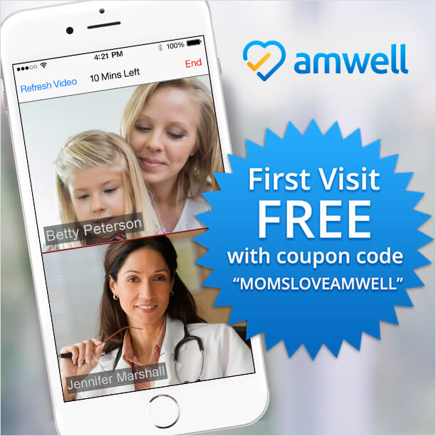 Free visit to the doctor with the amwell app the tiptoe fairy get a free online visit to the doctor with the amwell app come grab a fandeluxe Images