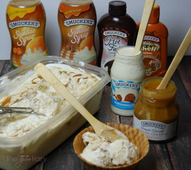 No Churn Cookie Butter Ice Cream - easy recipe - #ad #SundaeFundae | The TipToe Fairy