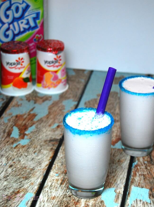 Yoplait® Cotton Candy Yogurt Smoothies #ad | The TipToe Fairy