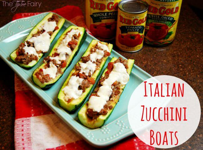 Easy Italian Zucchini Boats #GrillItNow #RedGoldRecipes #LaurasLeanBeef [ad] | The TipToe Fairy