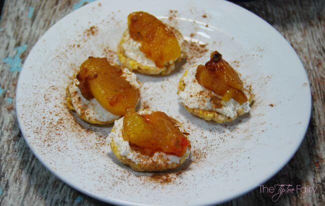 Roasted Peach Caramel Bites - gluten free! #gfwalmart #ad | The TipToe Fairy