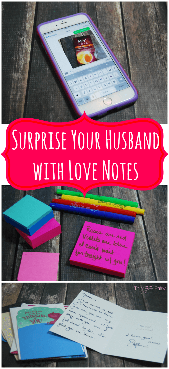 How to Surprise Your Husband with Love Notes #ad #KYTrySomethingNew | The TipToe Fairy