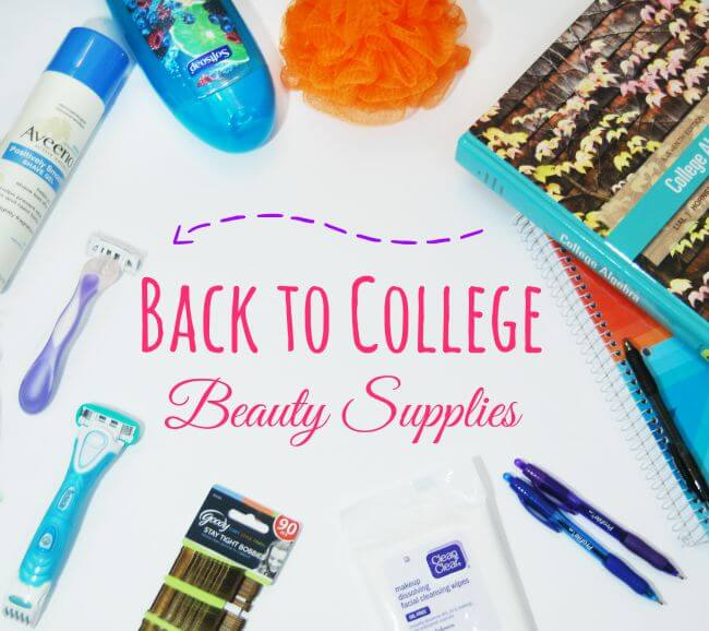 Back to College Beauty Supplies are just as important as back to school supplies! #SchickSummerSelfie #ad | The TipToe Fairy
