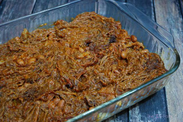 cCowboy Brisket Casserole - a simple and delicious cheesy and heart one-dish meal that's perfect for week night dinner! #FullnRichFlavor #Pmedia #ad | The TipToe Fairy