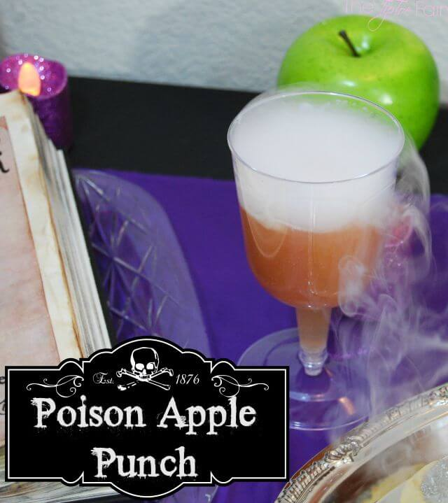 Poison Apple Punch - perfect for that Halloween, Snow White, or Disney Villians party | The TipToe Fairy