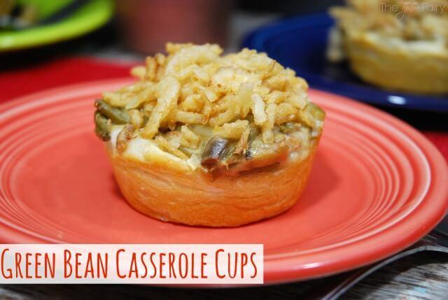 Green Bean Casserole Cups | The TipToe Fairy