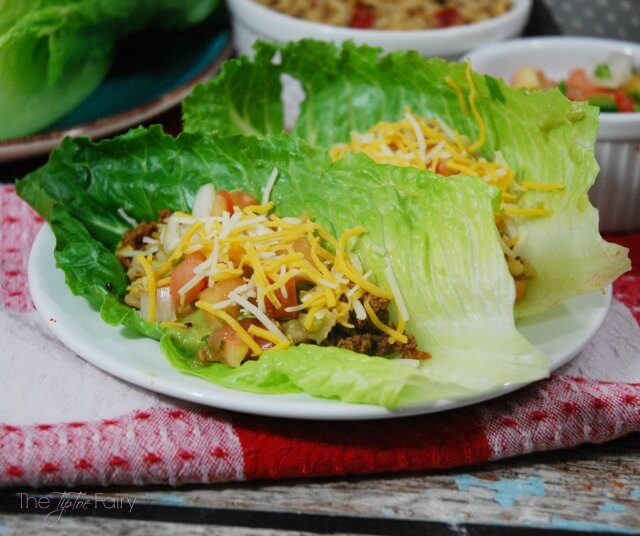 Twist up Taco Night with Taco Lettuce Cups #ad #JustAddRice | The TipToe Fairy