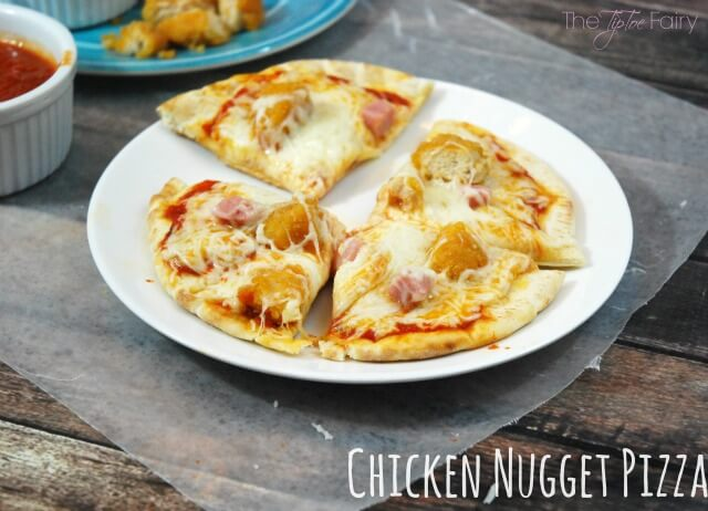 Chicken Nugget Pizza - an easy meal your kids will love! #ad | The TipToe Fairy