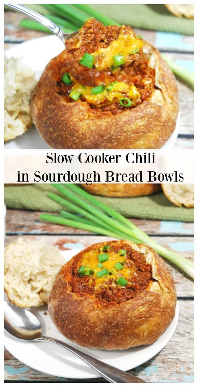 Slow Cooker Chili recipe - great for potlucks or a hearty meal for Fall or Winter nights #ad #SlowCookerMeals | The TipToe Fairy