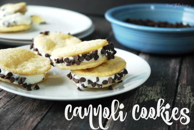 Make a lazy version of cannoli with Cannoli Cookies | The TipToe Fairy #cookies #yum