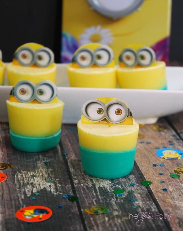 Make some Ice Cream Gelatin Treats for your #MinionsMovieNight w @TheTipToeFairy #yum AD