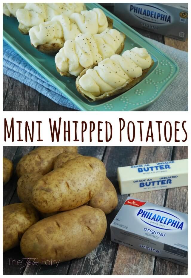 Mini Whipped Potatoes with Philadelphia Cream Cheese are magic! AD #NaturallyCheesy | The TipToe Fairy