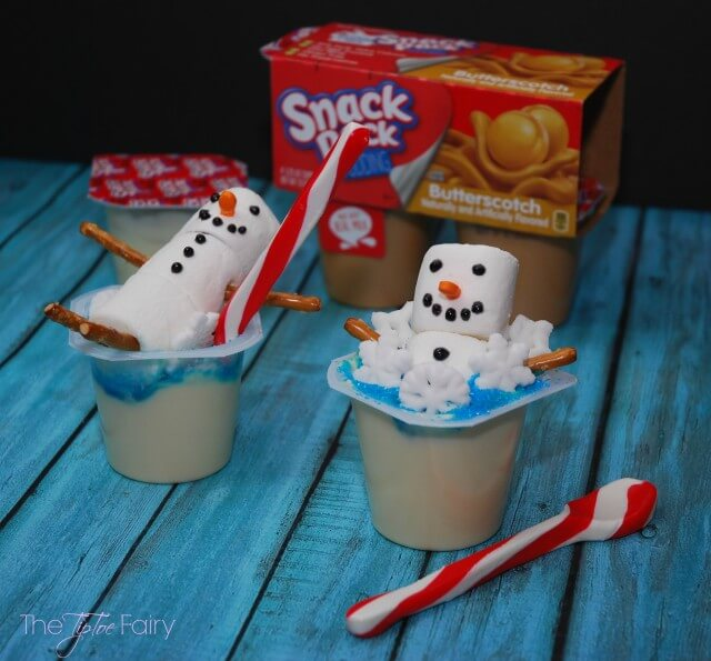 Have a #SpoonfulofFun & make a Snowman Bubble Bath w Snack Pack Pudding #AD #food