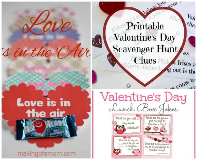 Printables for Valentine's Day Ideas