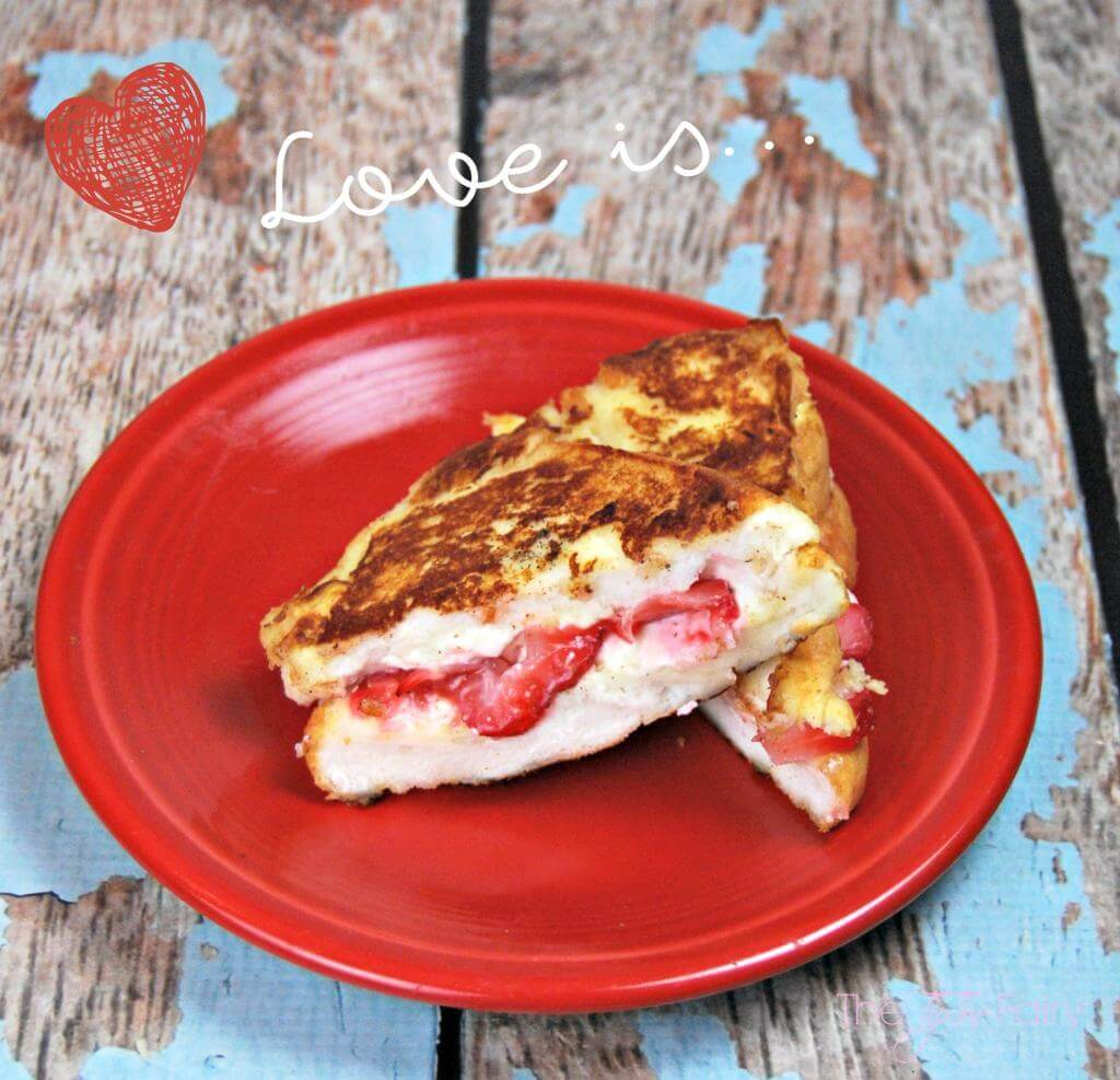 Angel Food Cake Grilled Cheese - perfect for breakfast in bed for your love on Valentine's Day | The TipToe Fairy