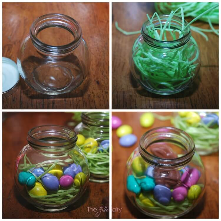 Diy easter nest jars the tiptoe fairy make these easy diy easter nest jars as gifts or as place cards for negle Images