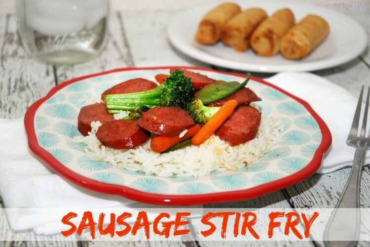 Easy Sausage Stir Fry with Hillshire Farm®! #AD #CreateYouDeliciousSkillet #food