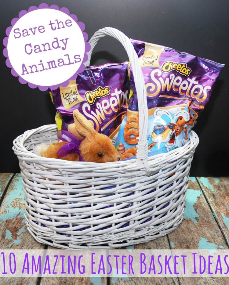 Save the candy animals! 10 Amazing #Easter Basket Ideas #Sweetos #spon