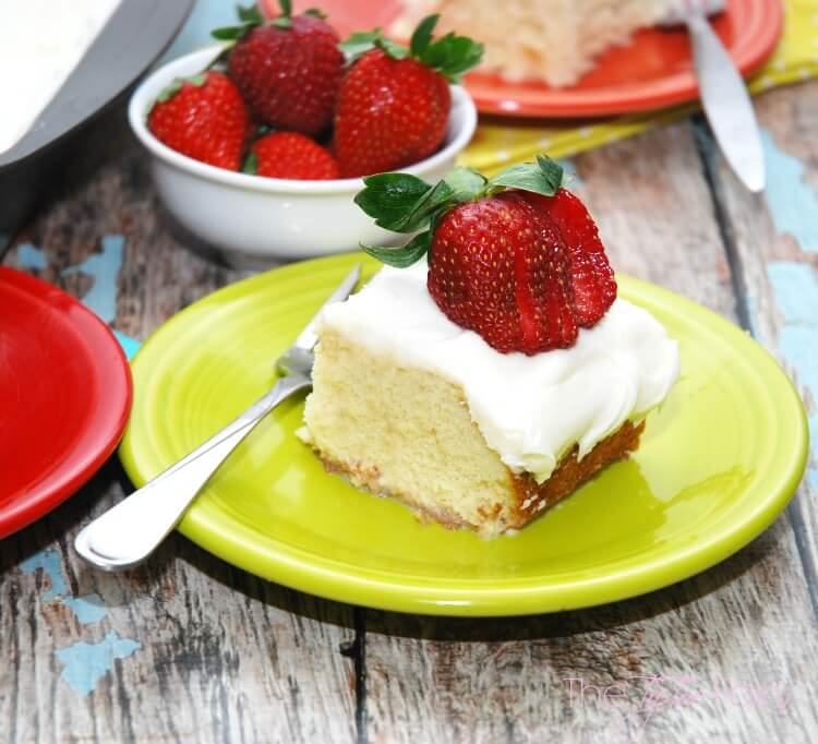Lazy Mom Tres Leches Cake - easy #dessert #food #cake