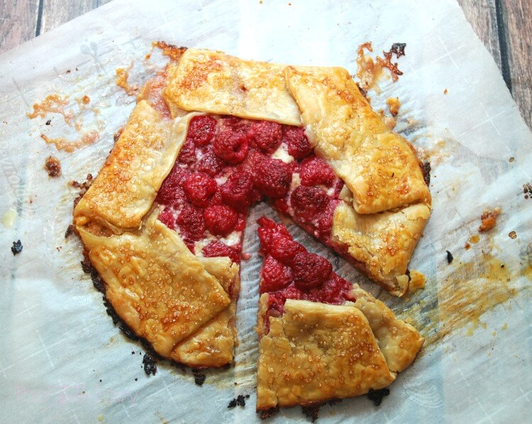 Make this easy Raspberry & Marmalade Cream Galette! #AD #food #foodie #dessert