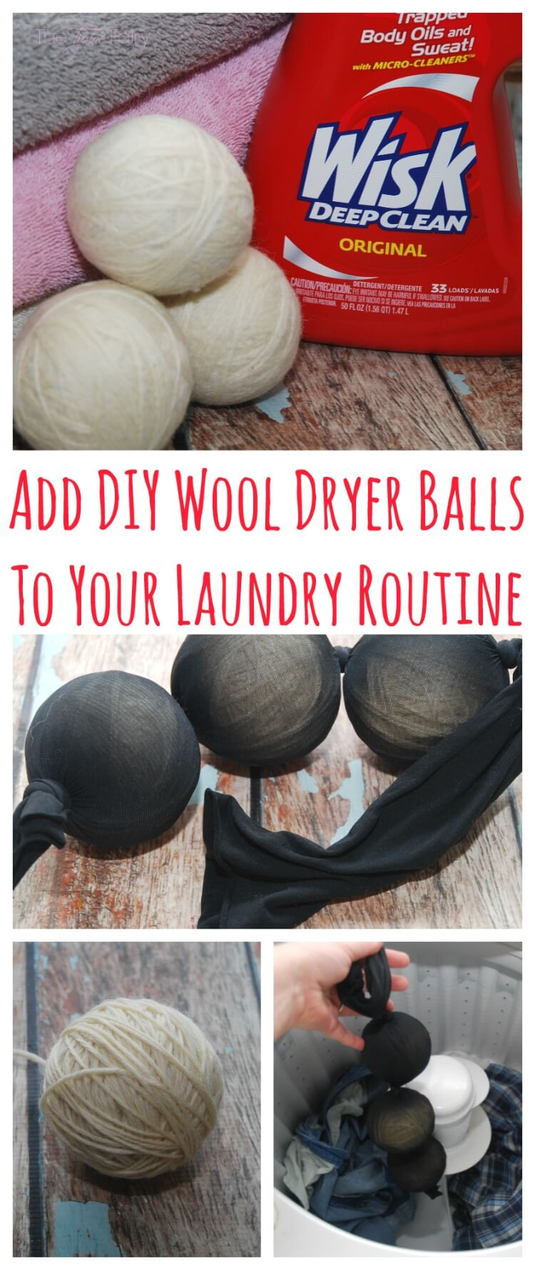Add #DIY Wool Dryer Balls to your Laundry Routine! #Wisk60 #ad