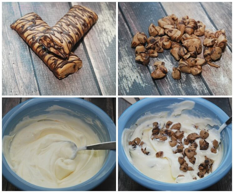 #SnackandRally w/this easy Chocolate Chip Cookie Dough Yogurt Pudding Pop #recipe! #ad