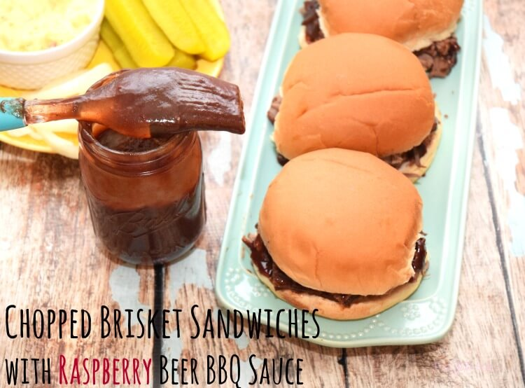 Easy Chopped Brisket Sandwiches w/Raspberry Beer BBQ Sauce! #ad #MyKCMasterpiece