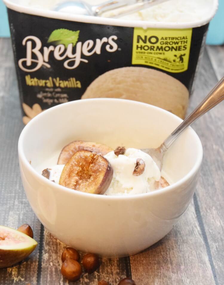 Celebrate #Breyers150 w/Spiced Roasted Figs & Hazelnuts w/ #IceCream #ad #foodie